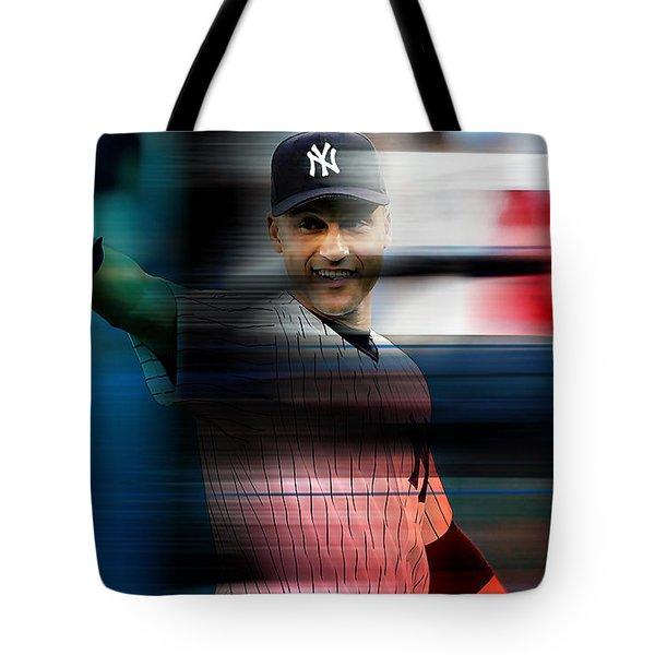 Derek Jeter Tote Bag