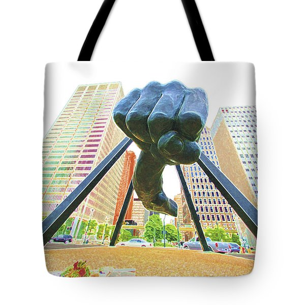 Detroit Fist Tote Bag