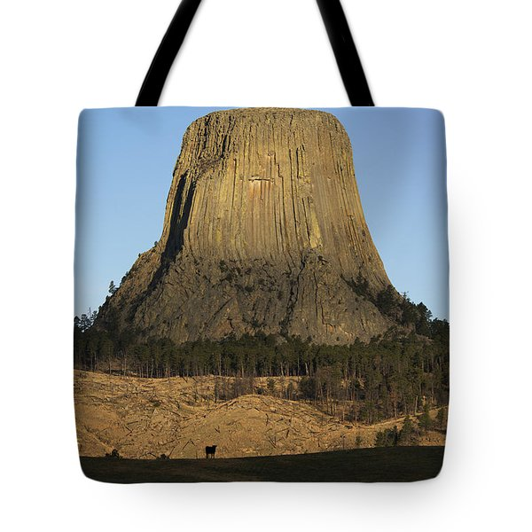 Devils Tower National Monument Wyoming Tote Bag