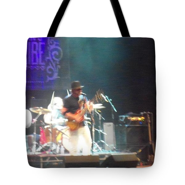 Tote Bag featuring the photograph Devon Allman And The Honeytribe by Kelly Awad