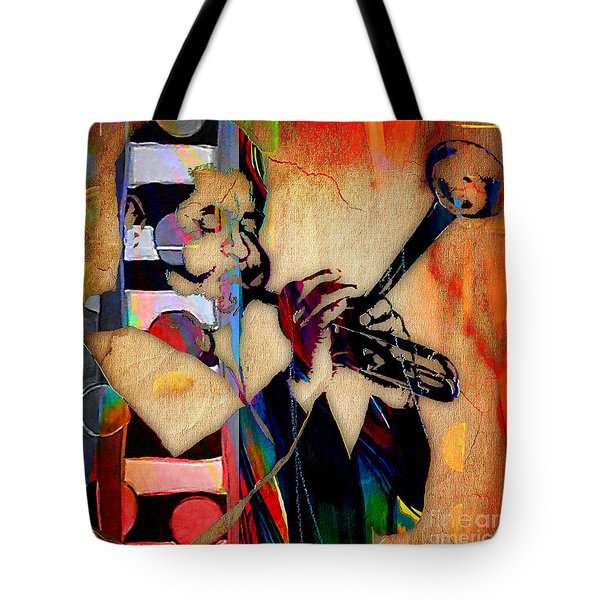 Dizzy Gillespie Collection Tote Bag by Marvin Blaine