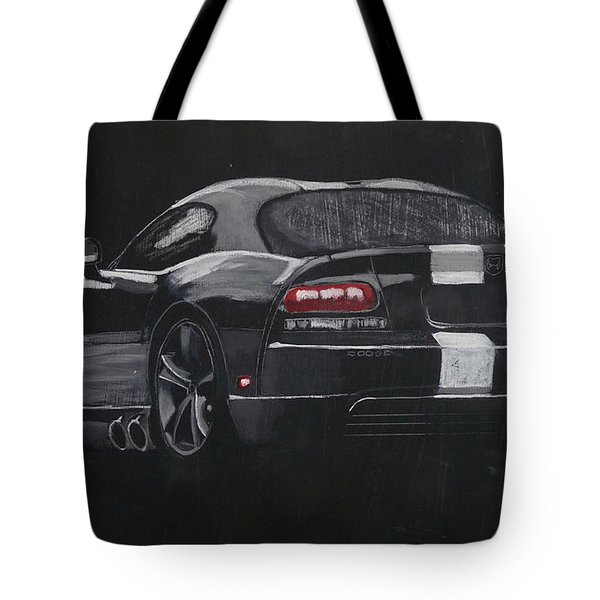 Tote Bag featuring the painting Dodge Viper 1 by Richard Le Page