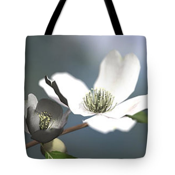 Dogwood Tote Bag by Cynthia Decker