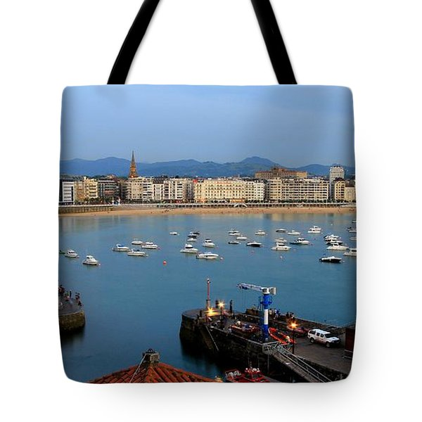 Tote Bag featuring the photograph Donostia 2016 by Mariusz Czajkowski