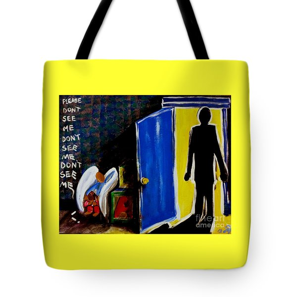 Don't See Me Tote Bag by Jackie Carpenter