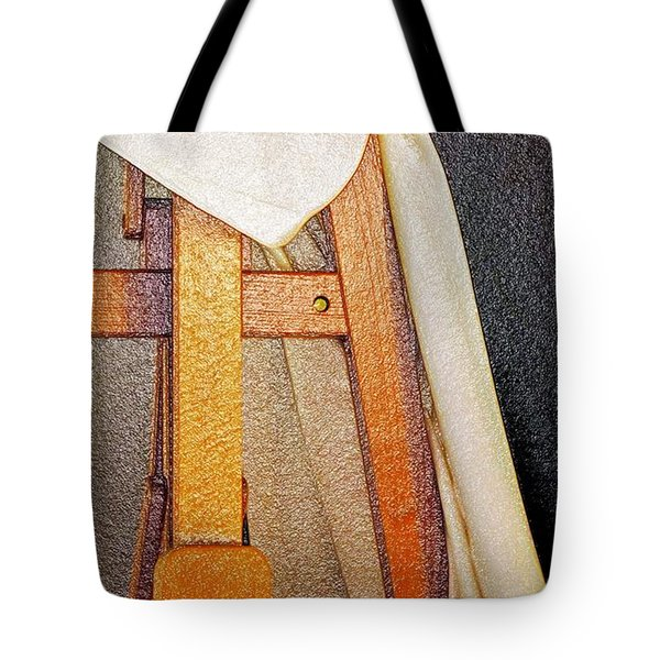 Draped Easel Tote Bag