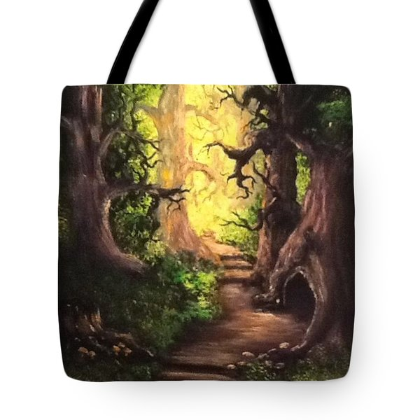 Tote Bag featuring the painting Druid Forest by Megan Walsh