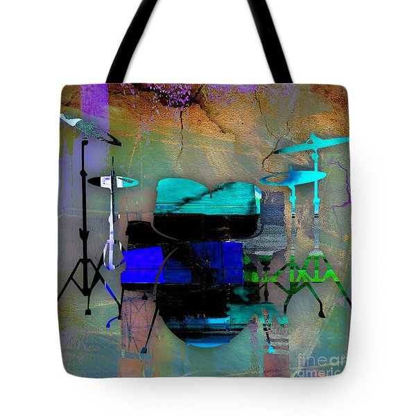 Drums Tote Bag by Marvin Blaine