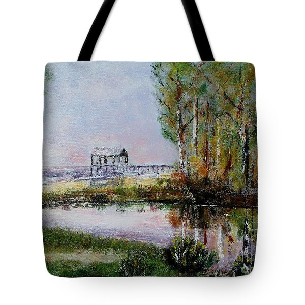 Fairhope Al. Duck Pond Tote Bag