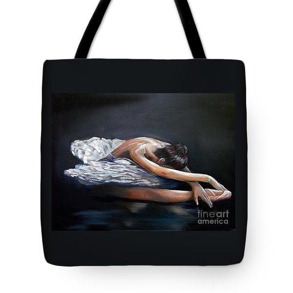 Dying Swan Tote Bag by Nancy Bradley