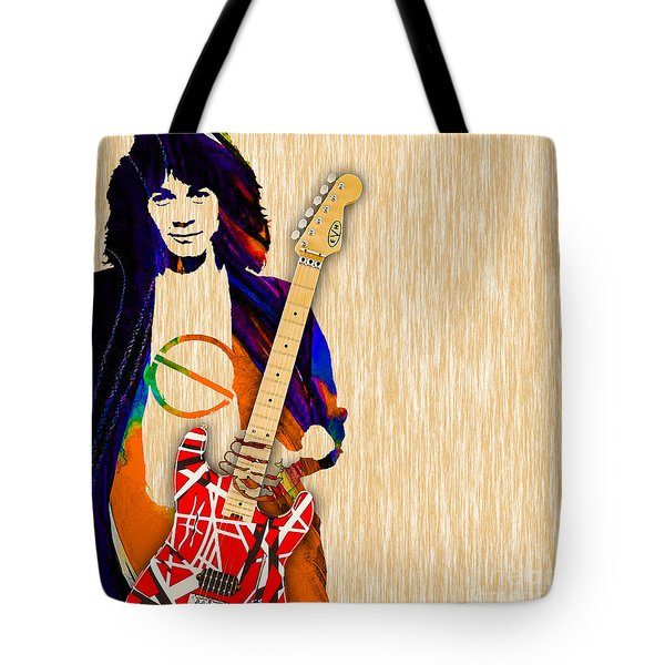 Eddie Van Halen Special Edition Tote Bag by Marvin Blaine