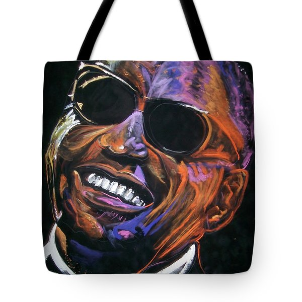 electric Ray Charles Tote Bag by Peter Suhocke