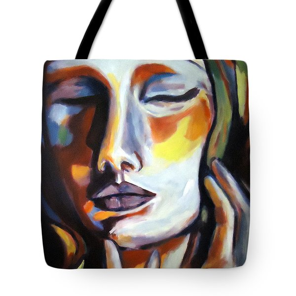 Tote Bag featuring the painting Emotion by Helena Wierzbicki