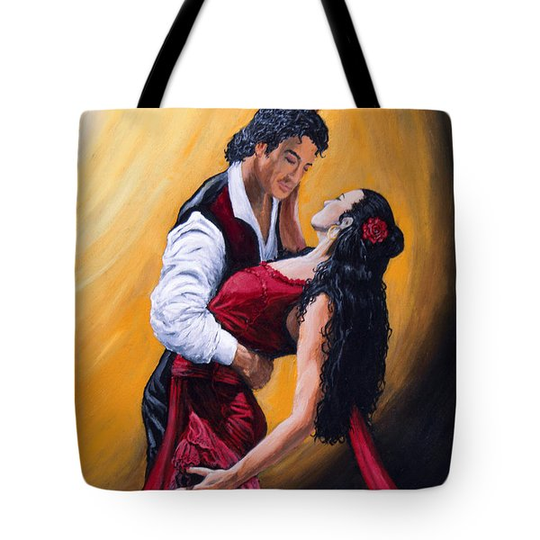 Esta Noche Bailamos Tote Bag by Jeremy Reed