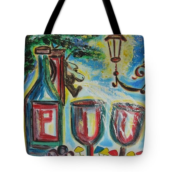 Tote Bag featuring the painting European Wine by Diane Pape