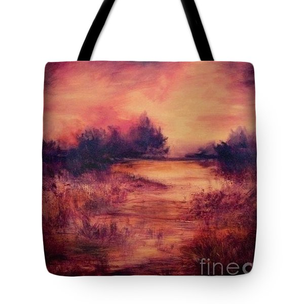 Evening Amber Tote Bag
