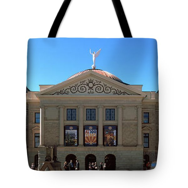 Facade Of The Arizona State Capitol Tote Bag
