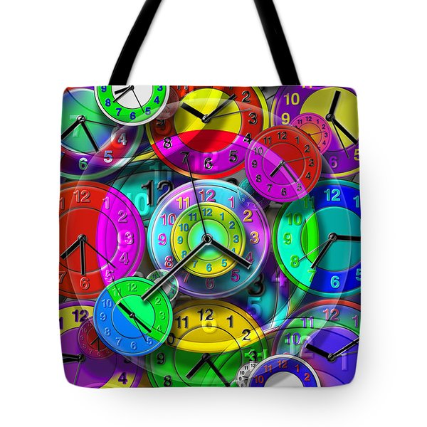 Faces Of Time 1 Tote Bag by Mike McGlothlen