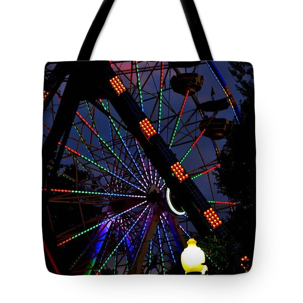 Fall Festival Ferris Wheel Tote Bag by Deena Stoddard