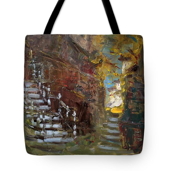 Fall In Albanian Village  Tote Bag