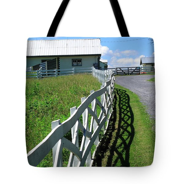 Farm And Fence Tote Bag by Frank Romeo