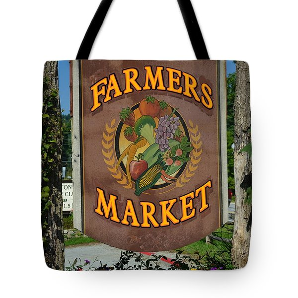 Farmers Market Tote Bag by Frozen in Time Fine Art Photography