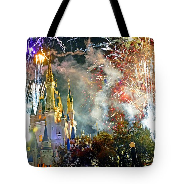 Fireworks Cinderellas Castle Walt Disney World Tote Bag