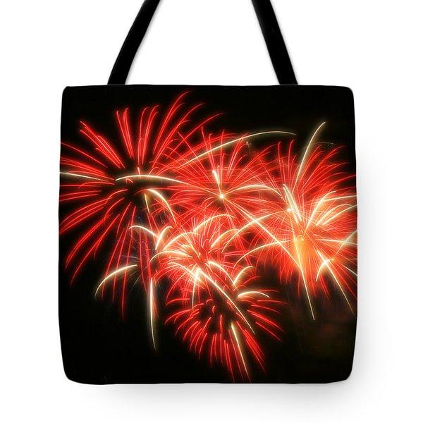 Fireworks Over Kauffman Stadium Tote Bag