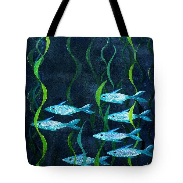 Fish Tote Bag by Barbara Moignard