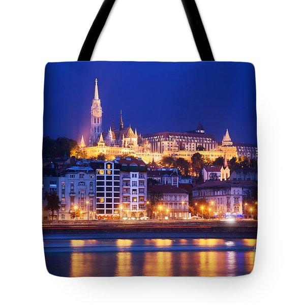 Fisherman's Bastion In Budapest Tote Bag by Michal Bednarek