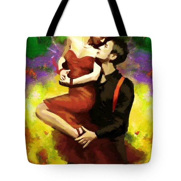 Flamenco Dancer 029 Tote Bag by Catf