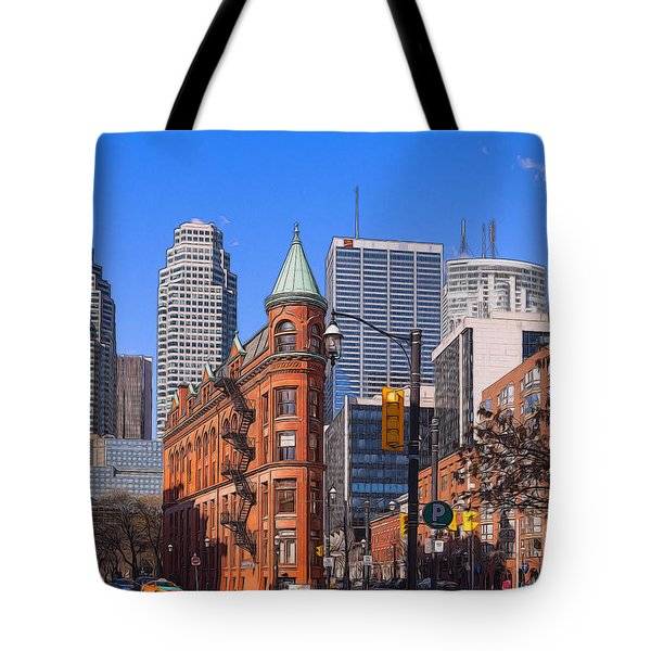Flatiron Building In Toronto Tote Bag