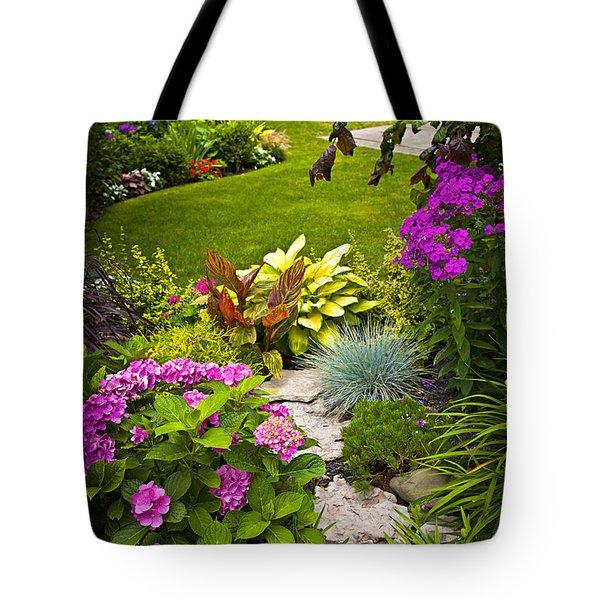 Flower Garden Tote Bag by Elena Elisseeva