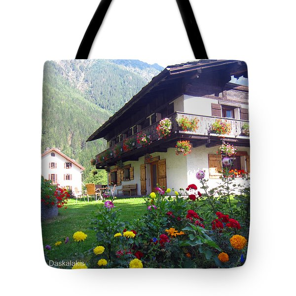 Flowery House Tote Bag