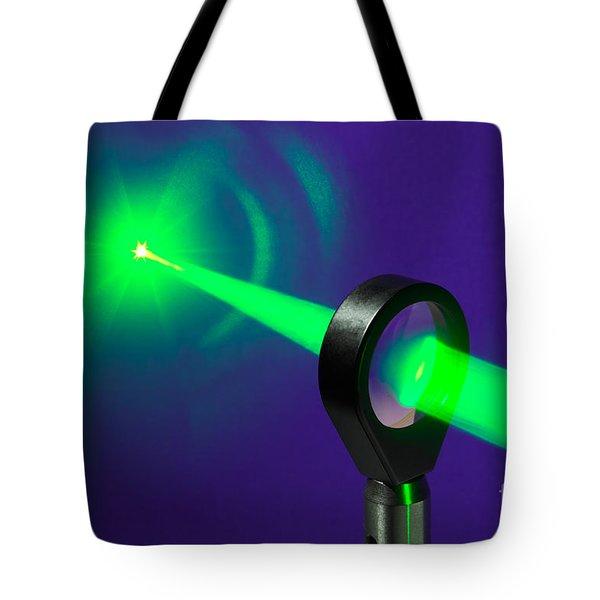Focusing Laser Light Tote Bag