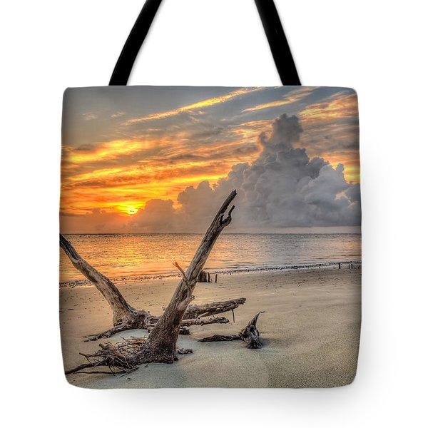 Folly Beach Driftwood Tote Bag