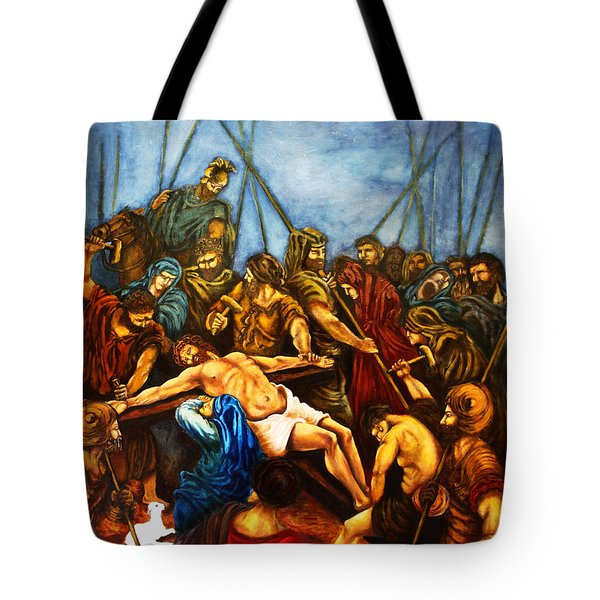 Forgive Them Father For They Know Not What They Do Tote Bag