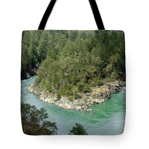 Forks Of The Smith River Tote Bag by Betty Depee