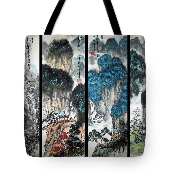 Four Seasons In Harmony Tote Bag by Yufeng Wang