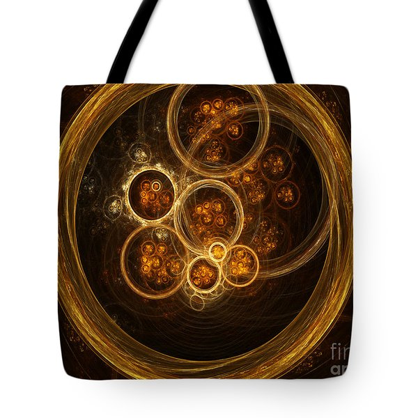 Fractal Flames Tote Bag by Scott Camazine
