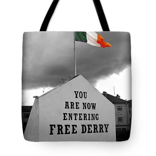 Free Derry Wall 1 Tote Bag