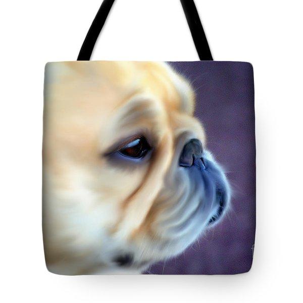 French Bulldog Head Study Tote Bag by Barbara Chichester