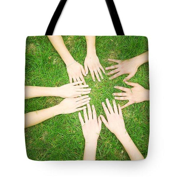 Friends United Tote Bag by Michal Bednarek