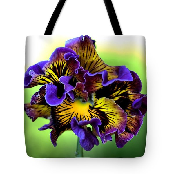 Frilly Pansy Tote Bag by Joy Watson
