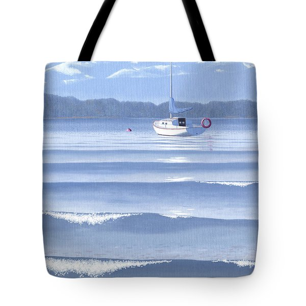 Tote Bag featuring the painting From The Beach by Gary Giacomelli