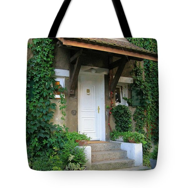 Tote Bag featuring the photograph Front Door by Arlene Carmel