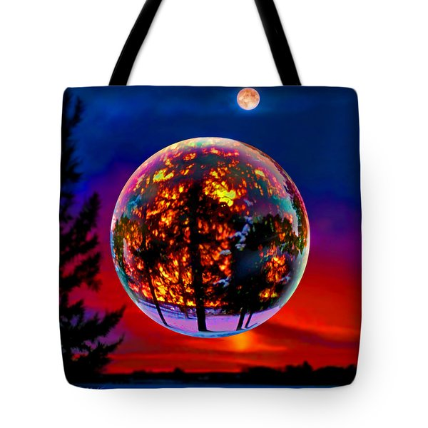 Full Moon Over New Richmond Sunset Tote Bag