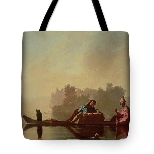Fur Traders Descending The Missouri Tote Bag by George Caleb Bingham
