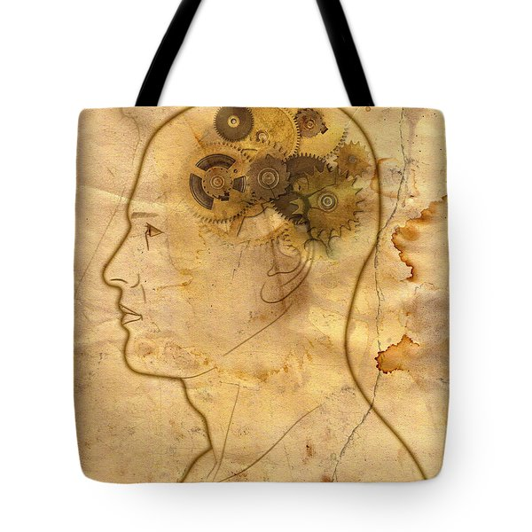 Gears In The Head Tote Bag by Michal Boubin