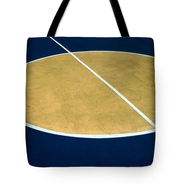 Geometry On The Basketball Court Tote Bag